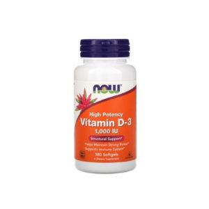 Витамин D-3, 1000 МЕ, 180 капс (Now)