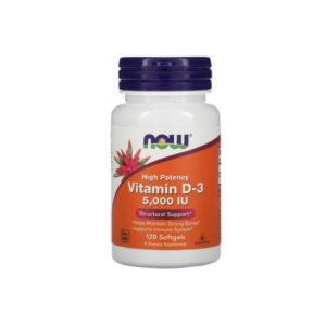 Витамин D-3, 5000 МЕ, 120 капс (Now)