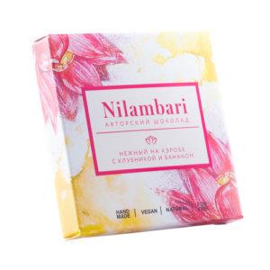 Шоколад нежный на кэробе с клубникой и бананом, 65 г (Nilambari)