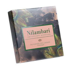 Шоколад на кэробе без сахара, 65 г (Nilambari)