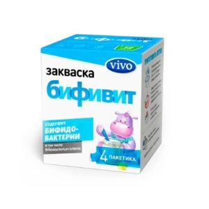 Закваска бактериальная Бифивит, 4 пак*0.5 г (Vivo)