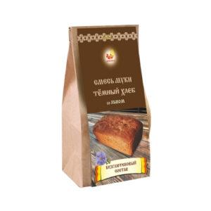 Смесь муки без глютена Тёмный хлеб со льном, 700 г (Дивинка)