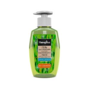 Гель для умывания на основе конопляного масла, 200 мл (Hempina)