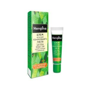 Крем на основе конопляного масла для кожи вокруг глаз, 15 мл (Hempina)
