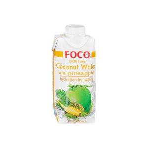 Кокосовая вода с соком ананаса, 330 мл (Foco)