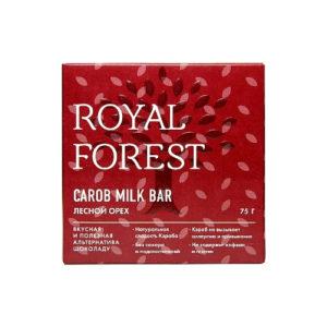 Шоколад из кэроба Лесной орех, 75 г (Royal Forest)