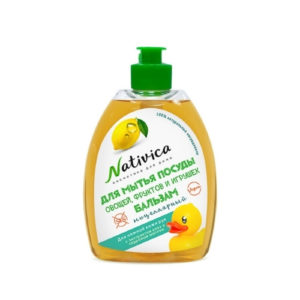 Бальзам для мытья посуды и фруктов Для нежной кожи рук, 400 мл (Nativica)