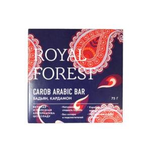 Шоколад из кэроба Бадьян, кардамаон, 75 г (Royal Forest)