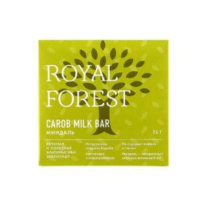 Шоколад из кэроба Миндаль, 75 г (Royal Forest)