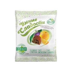 Конфеты Чернослив с апельсином в шоколадной глазури, 210 г (Умные сладости)