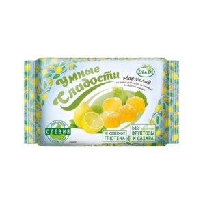 Мармелад без сахара со вкусом лимона, 200 г (Умные сладости)