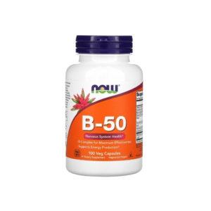 Витамин B-50, 100 капс (Now)