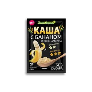 Каша овсяная с бананом и семенами чиа, 30 г (Компас здоровья)