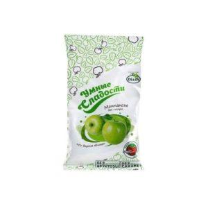Леденцы без сахара Зелёное яблоко, 55 г (Умные сладости)