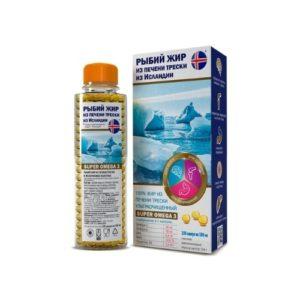 Рыбий жир из печени трески, 180 капс*300 мг (Компас Здоровья)