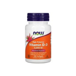 Витамин D-3, 2000 МЕ, 120 капс (Now)