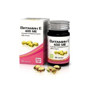 Витамин Е 400 ME, 30 капс*570 мг (Real Caps)