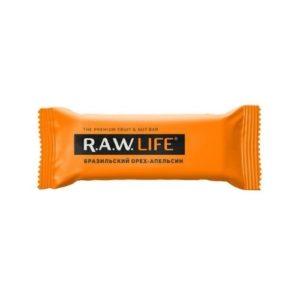 Батончик орехово-фруктовый Бразильский орех-апельсин, 47 г (R.A.W. Life)