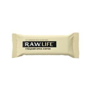 Батончик орехово-фруктовый Грецкий орех-кэроб, 47 г (R.A.W. Life)