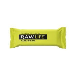 Батончик орехово-фруктовый Лайм-имбирь, 47 г (R.A.W. Life)