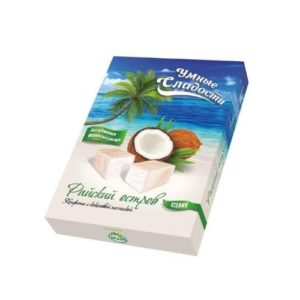 Конфеты Райский остров с кокосовой начинкой, 90 г (Умные сладости)