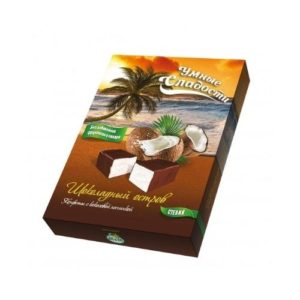 Конфеты Шоколадный остров с кокосовой начинкой, 90 г (Умные сладости)
