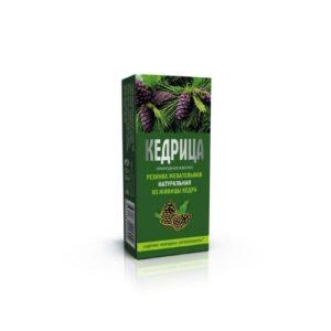 Смолка кедровая Кедрица, блистер 0,8*4 г (Алтайский нектар)