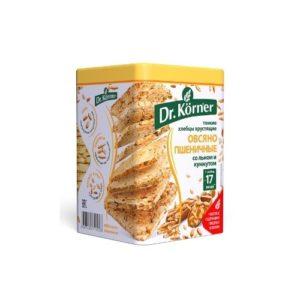 Хлебцы овсяно-пшеничные со льном и кунжутом, 100 г (Dr. Korner)