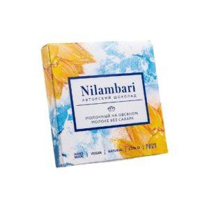 Шоколад молочный на овсяном молоке без сахара, 65 г (Nilambari)