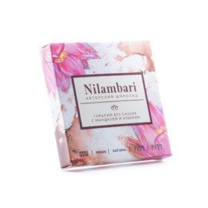 Шоколад горький без сахара с миндалём и изюмом, 65 г (Nilambari)