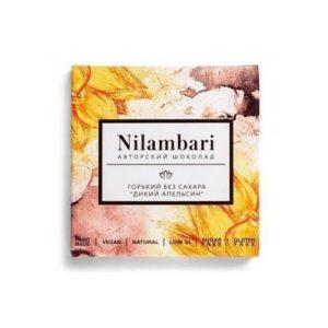 Шоколад горький без сахара Дикий апельсин, 65 г (Nilambari)