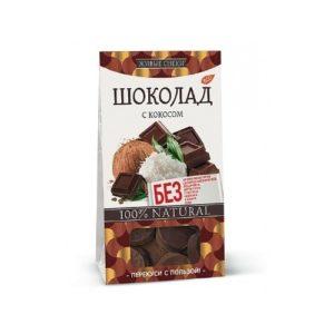 Шоколад с кокосом, 100 г (Живые снеки)