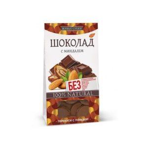 Шоколад с миндалём, 100 г (Живые снеки)